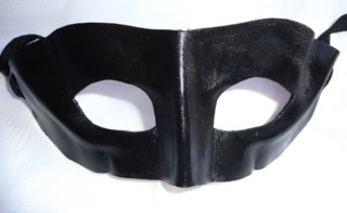 Mens Genuine Handmade Italian Leather Lone Ranger  Mask ( WILL FIT OVER GLASSES ) other colours on request