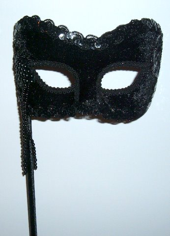 Black velvet Stick Mask