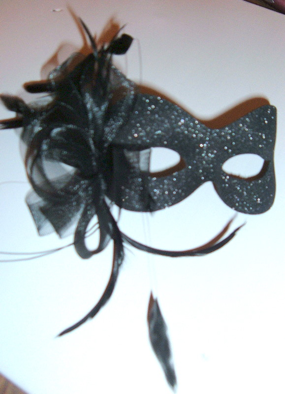 Burlesque style masquerade sparkle mask (5 diff colour options avail)