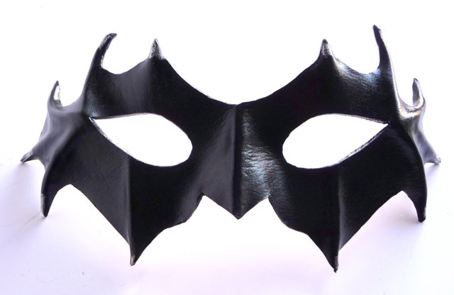 Genuine Handmade Leather Little Black Imp Mask (1)